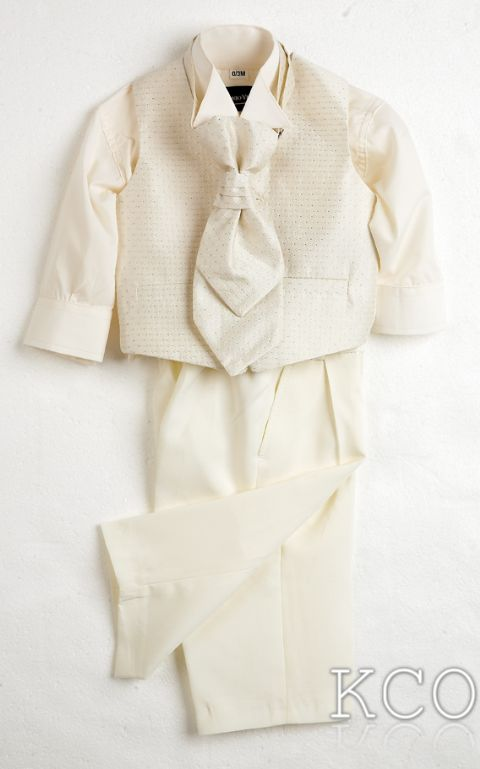 Sicily Classic Ivory Shirt/Ivory Trousers~ Boys Suits
